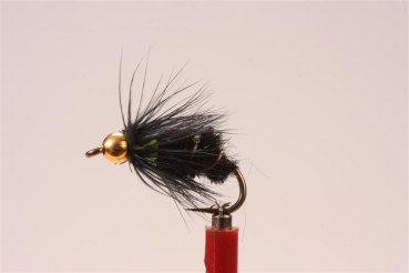 Bivisible Black/Chartreuse Gold Head Nymph 14