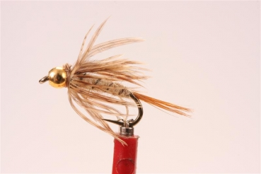 Hare`s Ear Soft Hackle Gold Head Nymph