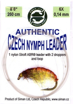 SIMAN Auth. Czech Nymph Leader 8'6""